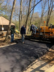A paved path is one of the renovations to the Wild Wonders Wildlife Park at the Howell Nature Center.