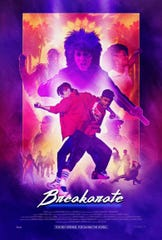 "The 1980s-style pastel colors and striped socks seen on this poster give a clue to the throwback vibe of ""Breakarate."""