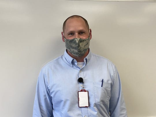 Erik Bakko is making masks for his family and co-workers at the Madison Va Hospital from old military uniforms. Bakko was an Army parachute rigger who served tours of Iraq and Afghanistan.