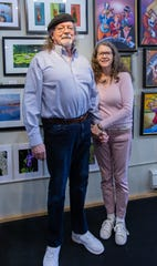 Purloin Studio owners Sue and Tim Corkum are pictured in their downtown Menomonee Falls art studio and coffee house on Wednesday, May 13, 2020. The couple plan to retire and will close the studio Saturday, May 30.