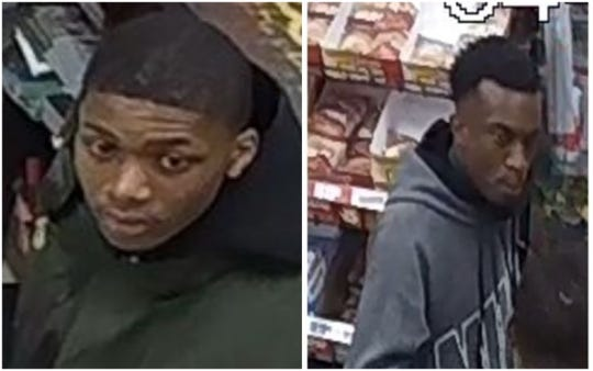 Montgomery police are searching for these two suspects in connection to a car break-in and fraud investigation.