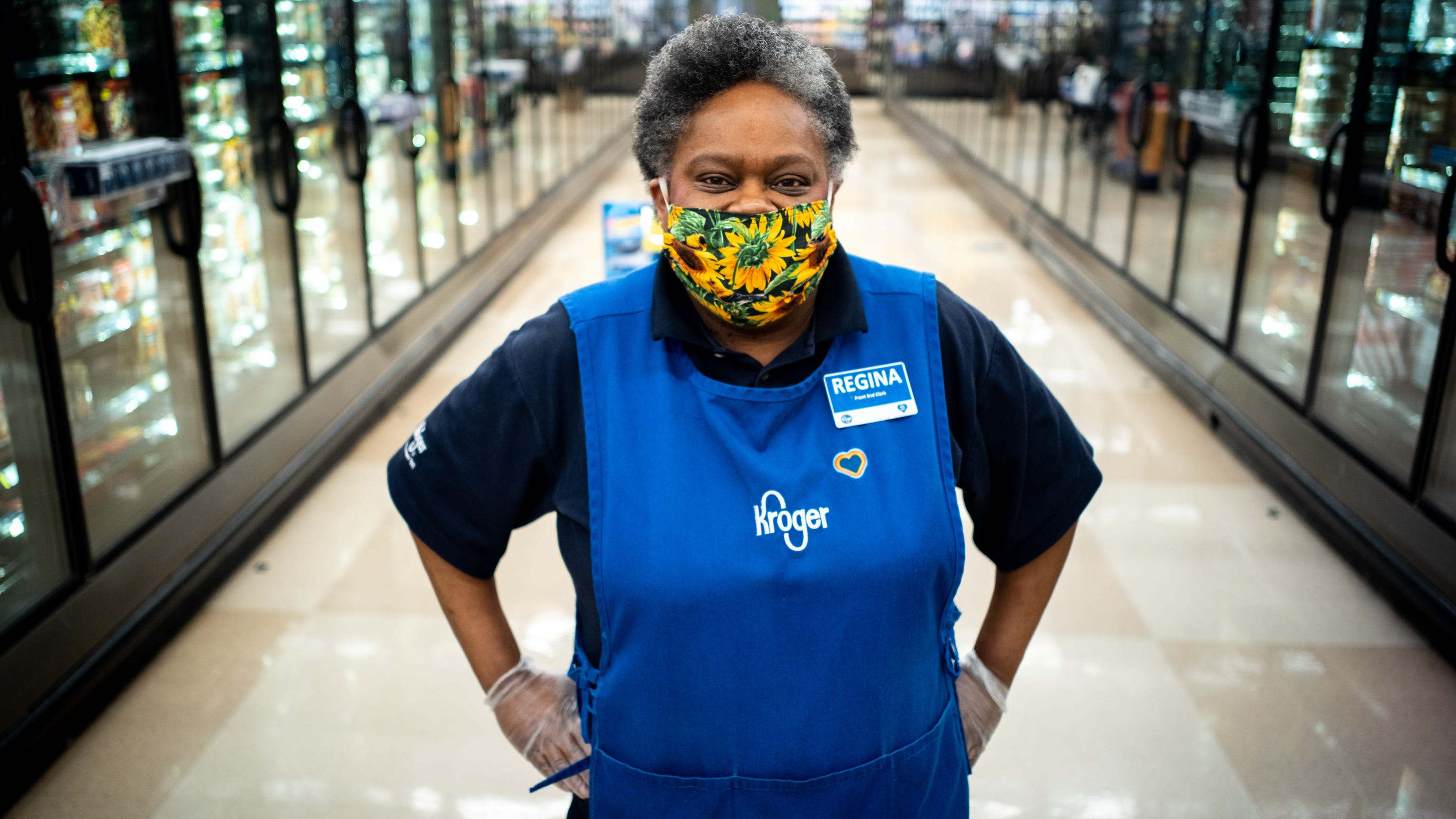 'Everybody in here loves her': Popular grocery store worker keeps shining through the pandemic