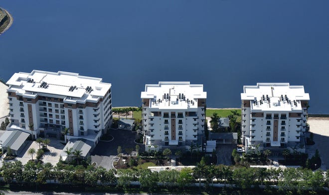 The construction of the first three buildings at Moorings Park Grande Lake has been completed much to the delight of its first residents.