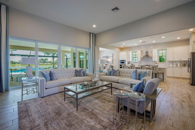 Allied ASID Designers Jean Losier and Christina Rosolia of Clive Daniel Home collaborated with the Ashton Woods design team to create interiors for the 2,500-square-foot three-bedrooms plus study, three and a half baths, with a 3-car garage.