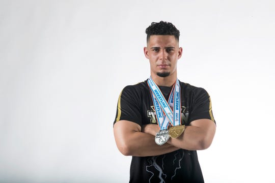 Andy Martinez, wrestling, Golden Gate, All-Area Athletes Winter 2020