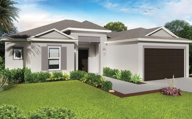 The Violeta, a four-bedroom, two-bath home, is one of the designs available at Arrowhead Reserve in Immokalee.
