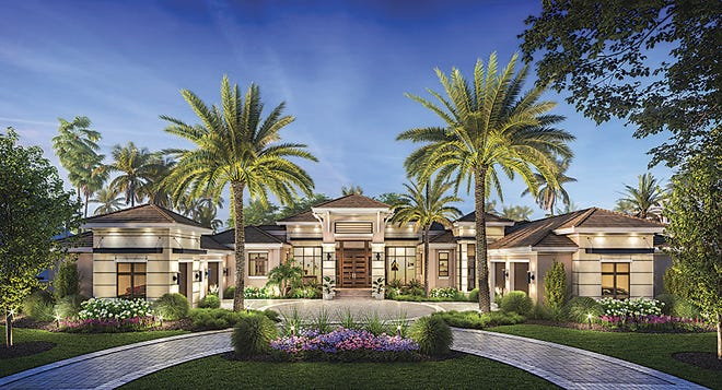 The Fairview model, by McGarvey Custom Homes, offers a golf course view.