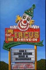 Mark Oberndorf's painting of The Circus Drive-In in Wall, NJ.