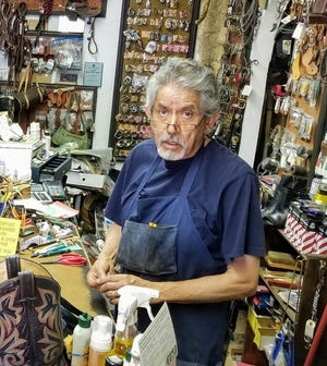 Longtime Las Cruces resident Oscar Amezquita, 79, in his leather repair shop at 490 South Esperanza Street. On Saturday, Amezquita went to drop some items off at his shop when he was shot and killed by an intruder.