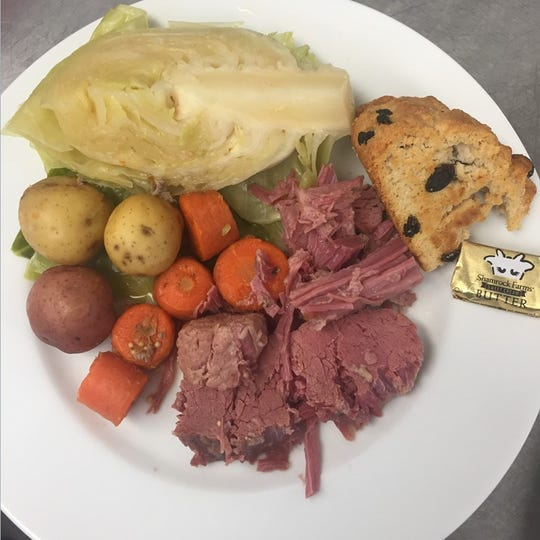 Corned beef and cabbage offered at A Bite of Belgium, 741 N. Alameda Blvd #16.
