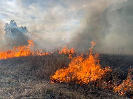 San Juan County firefighters and multiple agencies are responding to an active fire burning north of Nenahnezad area on May 12.