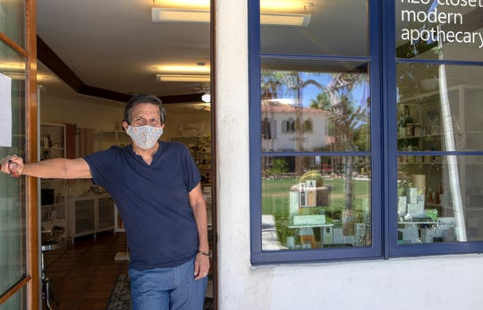 Steve Kouchi, co-owner of H2O Closet in La Quinta applied for and receive an interest-free loan from the City of La Quinta to help through the COVID-19 pandemic. He is photographed inside his store on Main Street in La Quinta, Calif., on May 12, 2020.