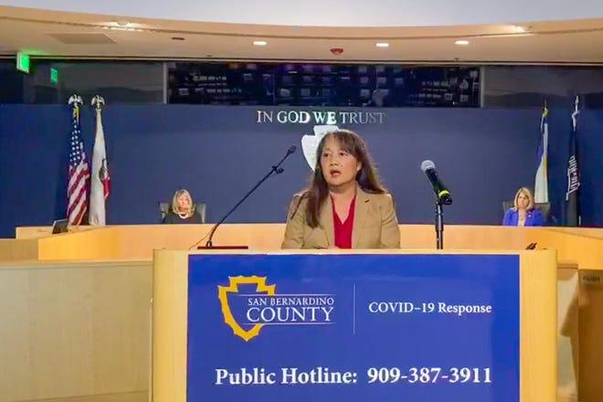 Trudy Raymundo will remain with San Bernardino County through May 29.