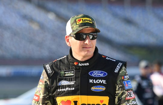 May 23, 2019; Concord, NC, USA; NASCAR Cup Series driver Michael McDowell (34) during qualifying for the Coca-Cola 600 at Charlotte Motor Speedway. Mandatory Credit: Jasen Vinlove-USA TODAY Sports