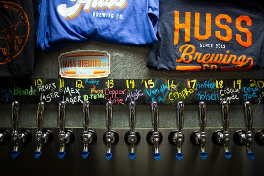 Huss Brewing's tap room is open for business in Tempe, Ariz. on May 13, 2020.