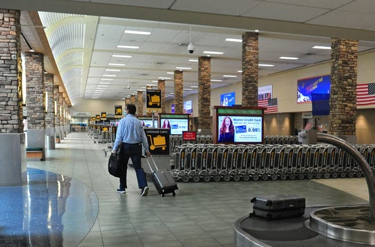 The Reno Tahoe International Airport remains deserted amid the covid quarantine on May 13, 2020.