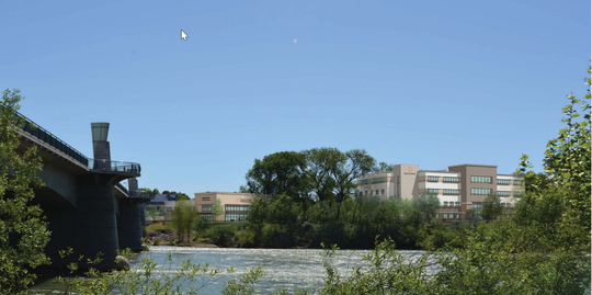 An artist rendering of Dignity Health's wellness campus planned for Redding.