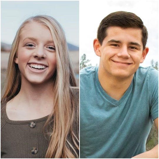 The 2020 Scholar-Athlete winners are Ashley Davies of Burney High School, left, and Jacob Johnston of West Valley High School.