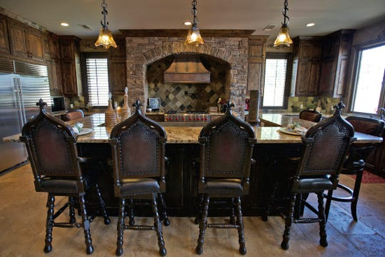 The kitchen of the house at 2666 Kings Road on Lake Nasworthy is seen in this Tuesday, May 12, 2020 photo.