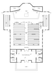Louisiana Fire Marshal's sample seating chart for worship centers.