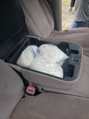 Six kilos of methamphetamine were seized in an arrest Tuesday.