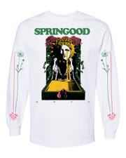 Supporters of the Outland Complex are selling shirts themed on the Outland and talent-booking companies tied to the music venue, like SprinGood, as a way to raise money to keep the business afloat during the COVID-19 pandemic.