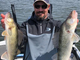 Doug Hanson was one of many anglers that found active fish on the opener.