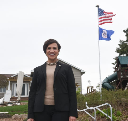 Rep. Lisa Demuth poses for a picture at her home in Cold Spring Wednesday, May 13, 2020.