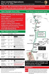 Zion National Park resumed operations Wednesday, May 13, after an extended closure due to the coronavirus pandemic.