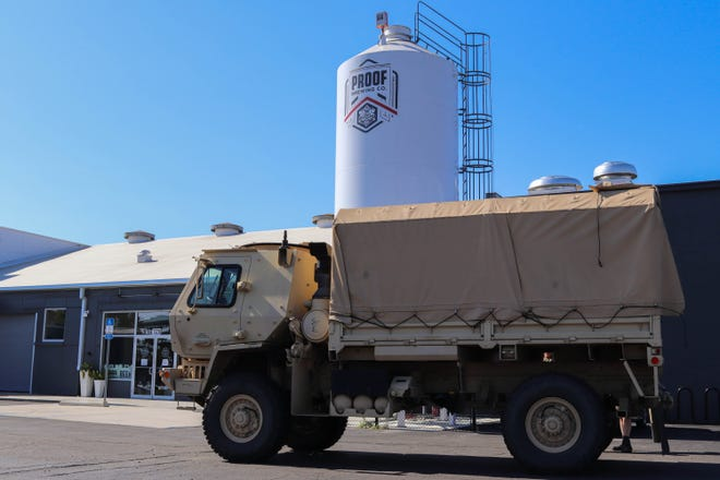 Proof posted photos of the National Guard making a gigantic pickup at their 1320 South Monroe location.