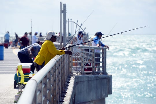 Anglers and beachgoers flock back to the Sebastian Inlet State Park on Wednesday, May 13, 2020, after the park reopened from being closed because of the COVID-19 pandemic. The park opened to the public on Friday, May 8, for day use activities including the jetties, boat ramp, catwalks, picnic areas and marina. The campgrounds and the Sebastian Fishing Museum remain closed.