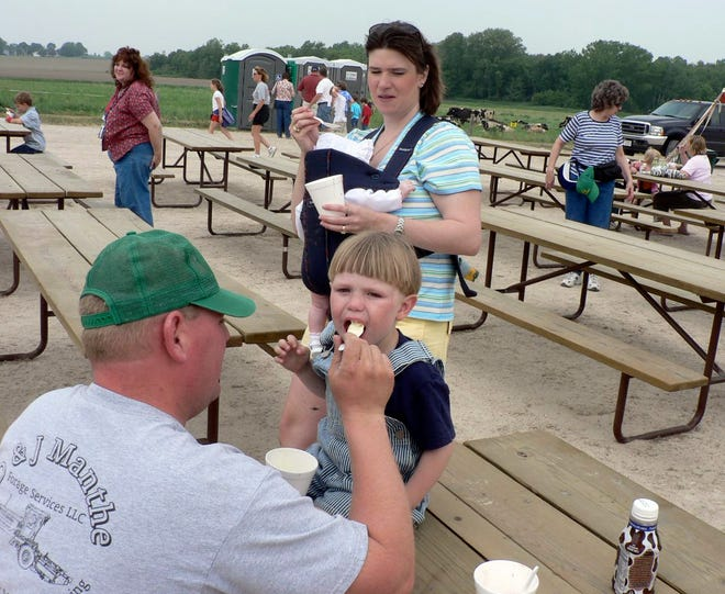 Eating ice cream at a dairy breakfast is one of life's pleasures, but this year, probably not.