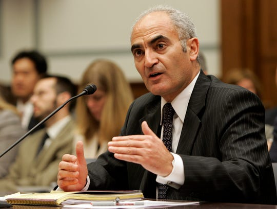 Moncef Slaoui, then of GlaxoSmithKline, testified on Capitol Hill in Washington on June 6, 2007, before the House Oversight and Government Reform committee hearing on the diabetes drug Avandia.