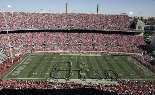 """Even the """"Script Ohio"""" at Ohio State could have a different look to address social-distancing recommendations."""