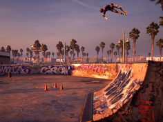 A scene from the remastered 'Tony Hawk's Pro Skater.'