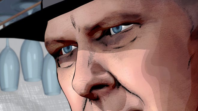 "In this exclusive image from Friday's Season 7 finale of 'The Blacklist,' a graphic-novel version of Raymond ""Red"" Reddington shares time with the live-action character played by James Spader. The NBC drama turned to animation to finish an episode only partly filmed when the coronavirus shut down Hollywood production in March."