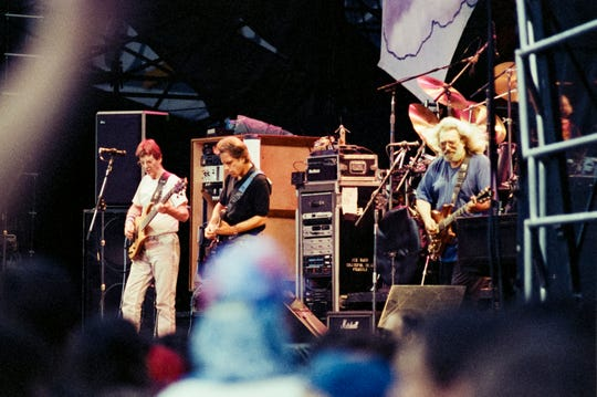 The Grateful Dead, pictured at Robert F. Kennedy Memorial Stadium in Washington, D.C. on June 14, 1991.