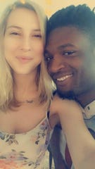 """Javon Brown with his girlfriend Sarah Baird. """"He is a Christian man, a family man,"""" Baird said. """"All he ever talked about was wanting to grow up, and he couldn't wait to have kids and start a family. His goal was to have the white picket fence."""""""