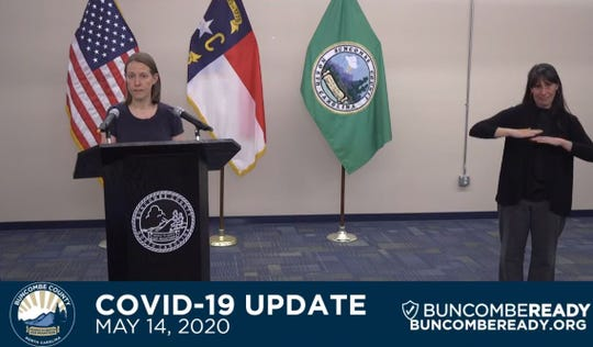 Buncombe County Interim Health Department Director Dr. Jennifer Mullendore gives a May 14 community update on the coronavirus pandemic.