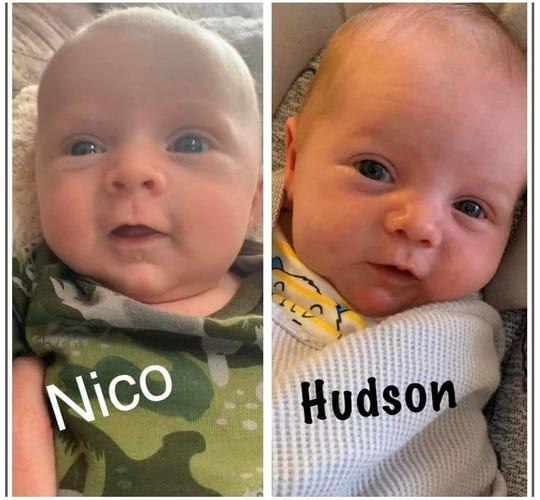 Cousins Nico DiBartolomeo and Hudson Boles were born during the pandemic, photo courtesy of Mindi Boles