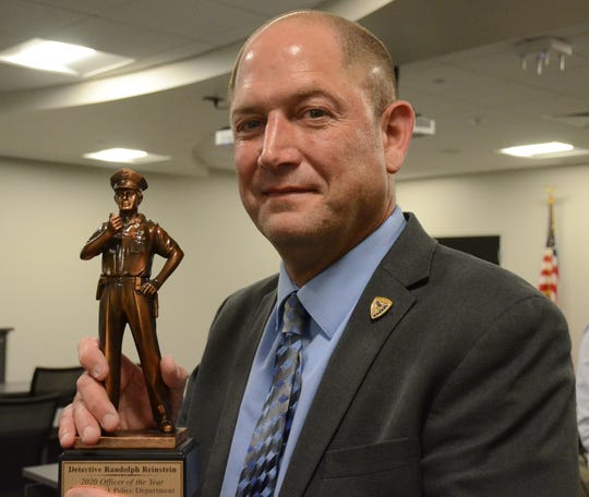 Battle Creek Police Detective Randy Reinstein is the department's 2020 Officer of the Year.  Trace Christenson/The Enquirer