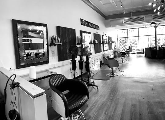 An interior shot of Posh Salon and Spa in Barre during the pandemic.