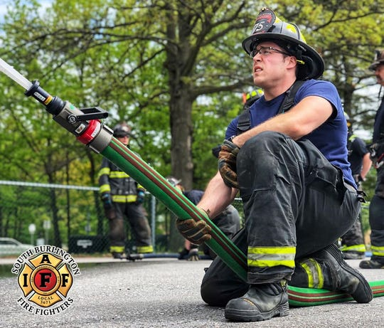 Leo Wermer, president of a union for South Burlington firefighters, has adjusted to being an essential worker during the coronavirus.  July 2019.