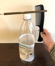All you need for this experiment is a comb, pencil and plastic bottle! 5/13/20