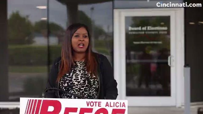 Alicia Reece speaks after winning Democratic primary for Hamilton County Board of Commissioners