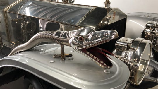 Detail of a 1909 Rolls-Royce shown at the Concours d'Elegance of America.