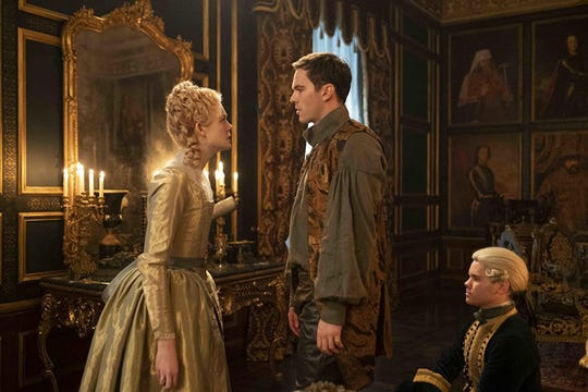 "Elle Fanning and Nicholas Hoult in ""The Great."""