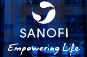 In this Feb. 7, 2019 the logo of French drug maker Sanofi is pictured at the company's headquarters, in Paris. French pharmaceutical group Sanofi ensured that it will make its COVID-19 vaccine, when ready, available in all countries, hours after the company's CEO said the United States will get first access.