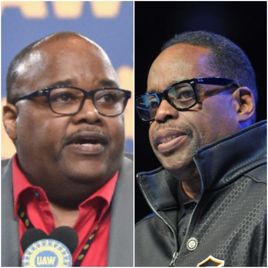 UAW President Rory Gamble, left, and retired Vice President Jimmy Settles.