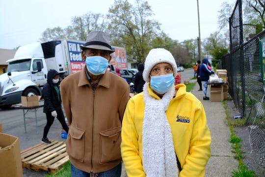 Robert and Ilene Kennerly, who pastor Spirit Love Church in  Detroit's Fitzgerald neighborhood, organized the Gleaner's drive-thru food bank for their neighborhood.
